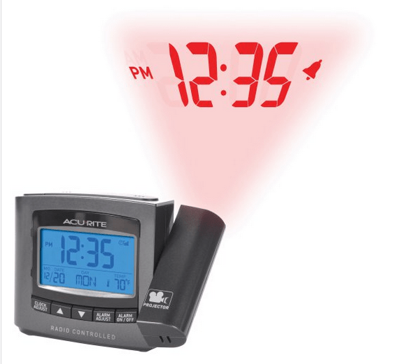 Alarm clock with projection