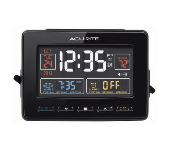 Alarm clock with temperature