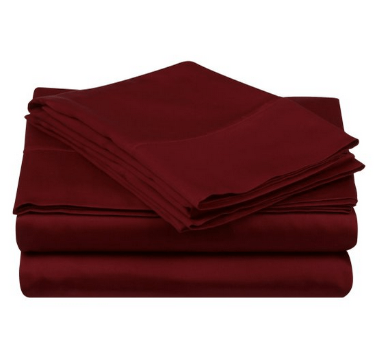 Bed sheet with 250-500 thread count