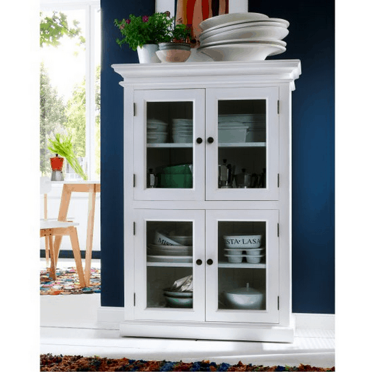 Kitchen pantry with windows