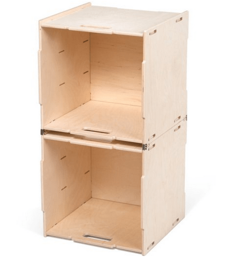 Stackable storage cube