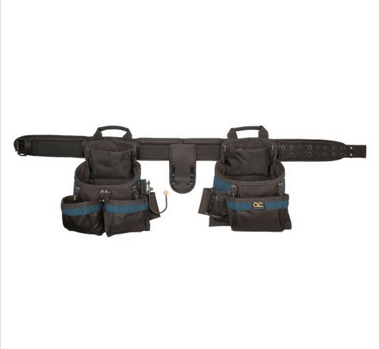 Tool belt with gussetted pockets
