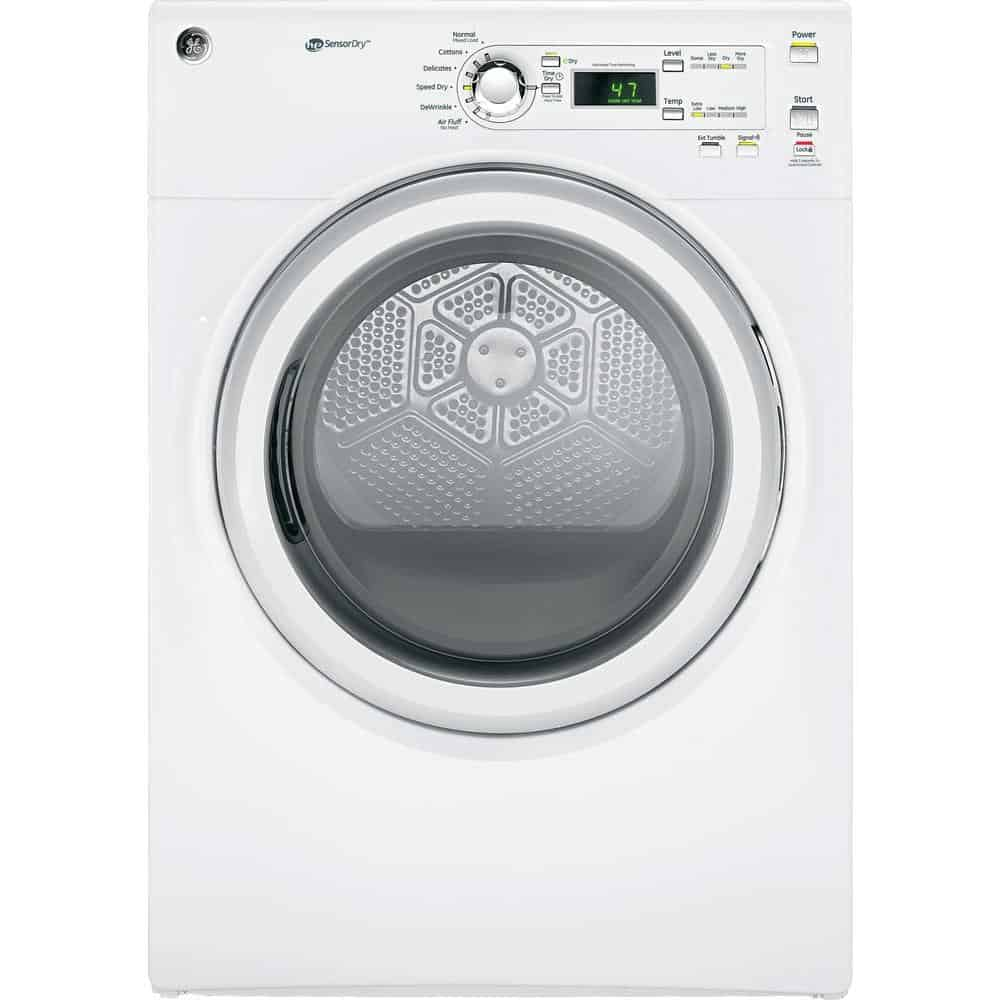 Clothes dryer with plastic drum