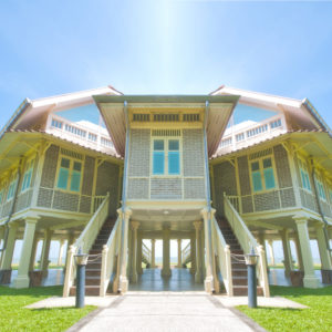 A stilt palace in Thailand.