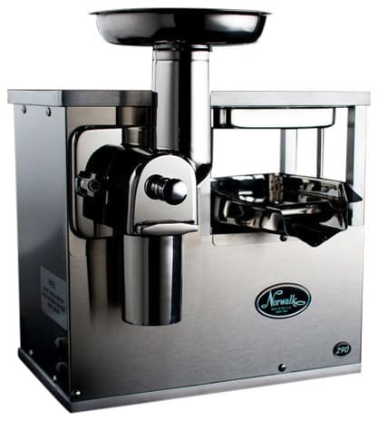 Hydraulic press juicer.