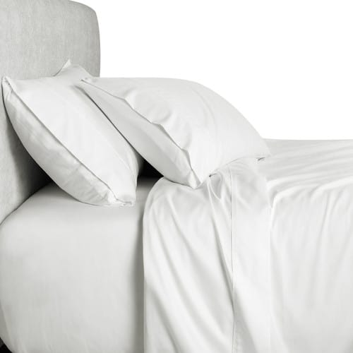 Bed sheet with 500 and up thread