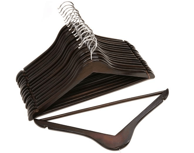 Clothes hanger with strap notches