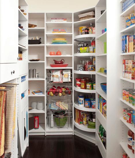 Corner kitchen pantry
