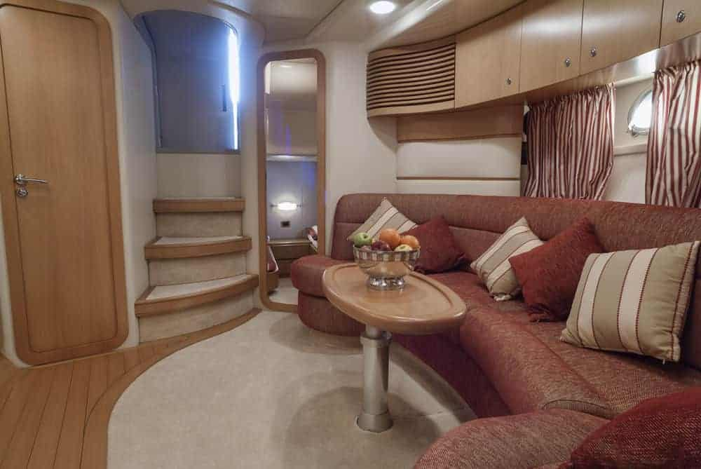 interior yacht lounge area and dinette 3