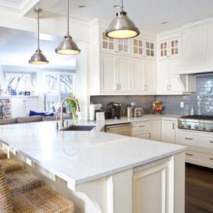 Kitchen with quartz countertop