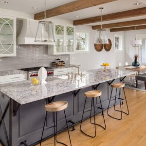 Kitchen with gorgeous granite countertops
