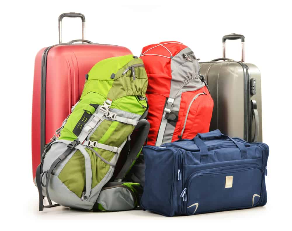 Different types of luggage