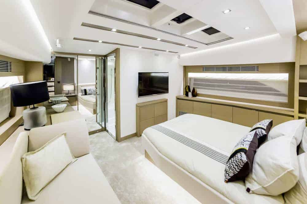 luxurious interior yacht - bedroom