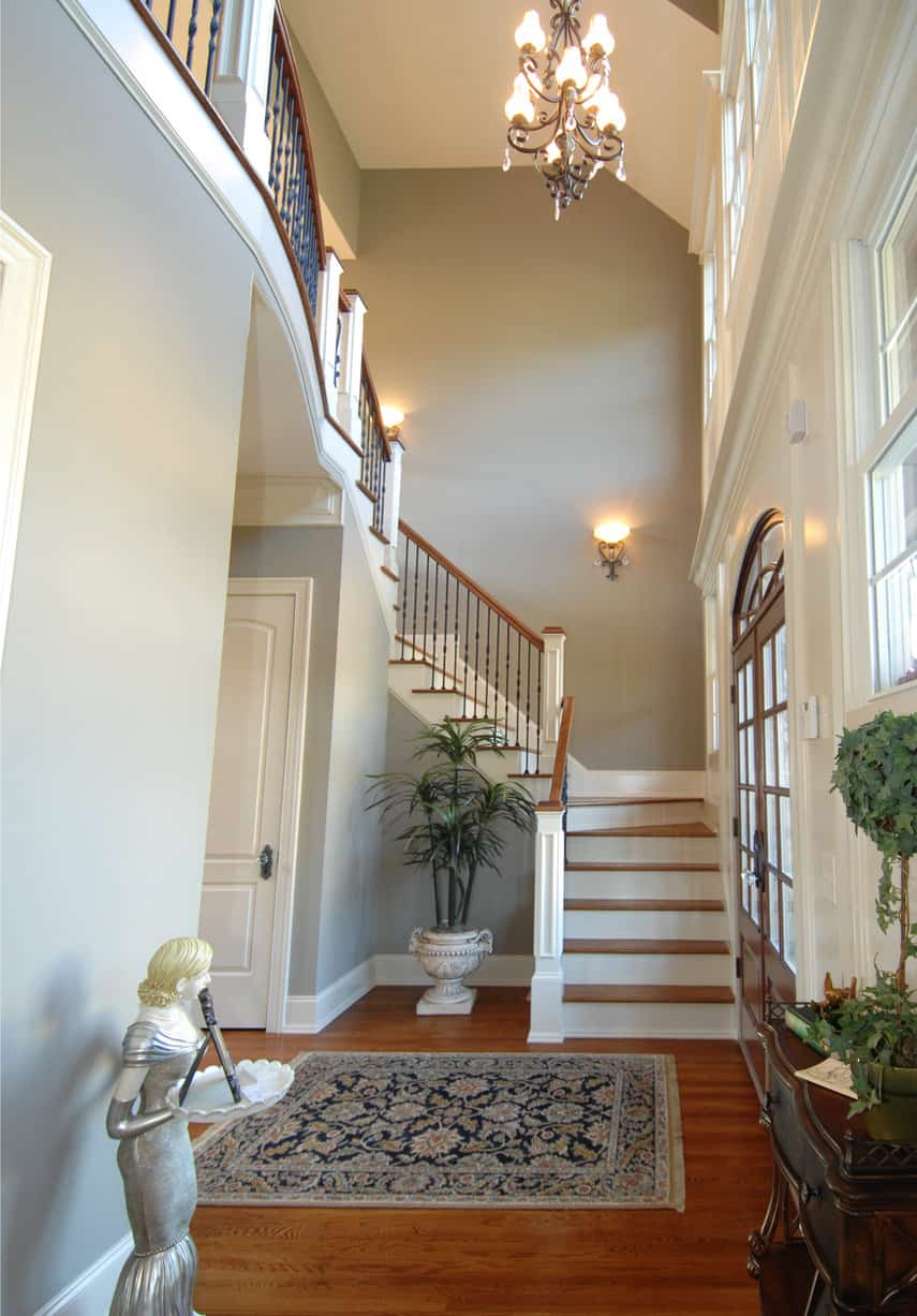 Small Foyer Stairs : Foyer design ideas for all colors styles and sizes