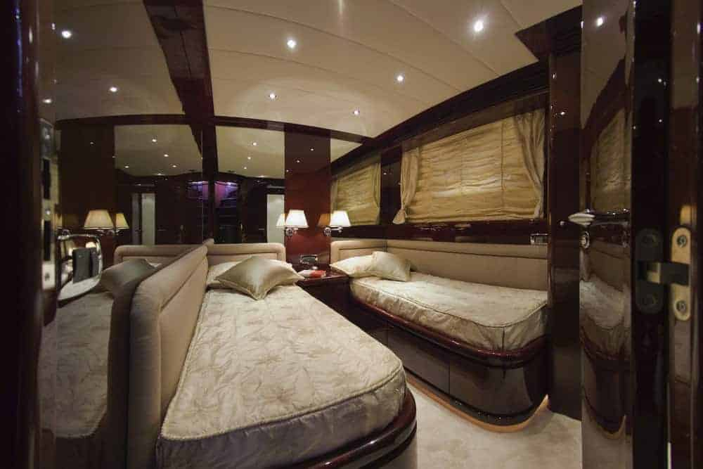 luxury yacht 2 bed bedroom