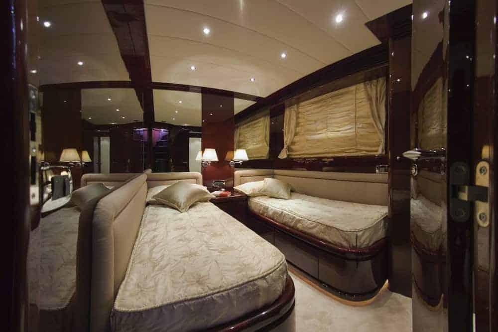 luxury yacht 2 bed bedroom