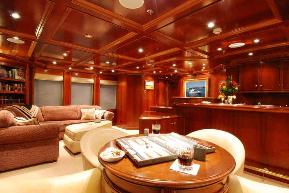 Luxury yacht sky lounge
