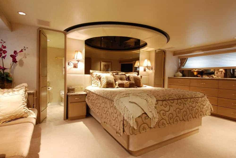 luxury yacht stateroom