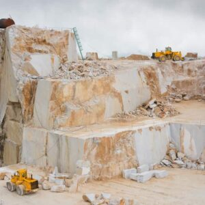 A beautiful view of a marble quarry.