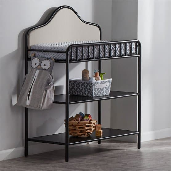 Metal baby changing table.