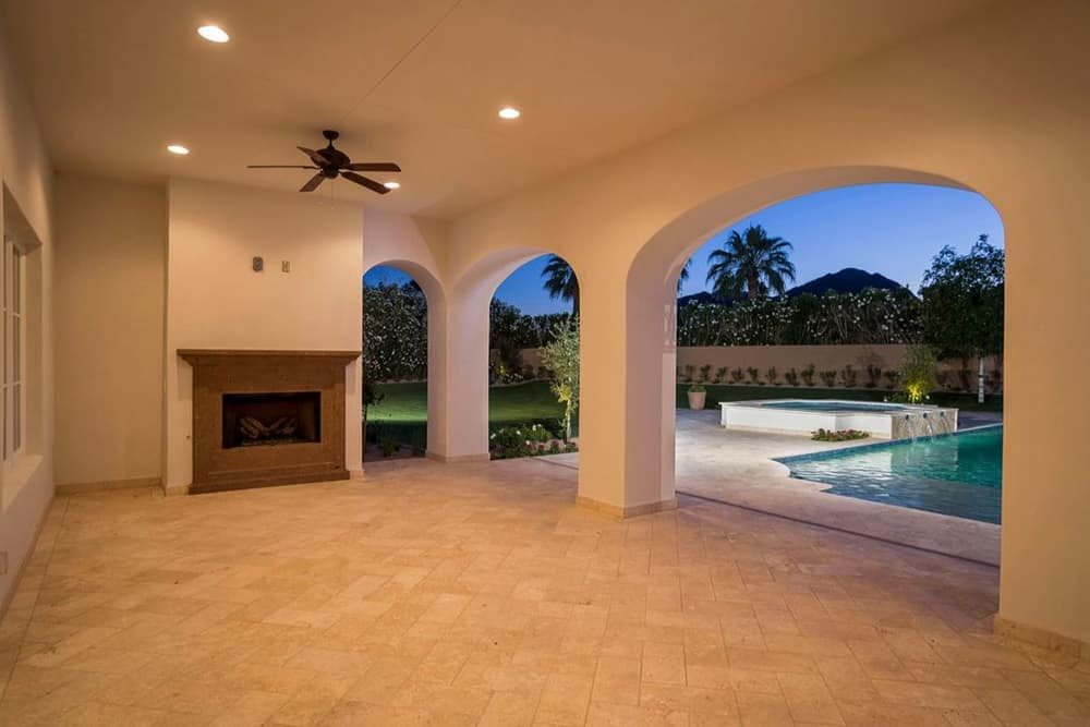 There's a large covered and vacant space near the pool area that can be converted into a covered patio.