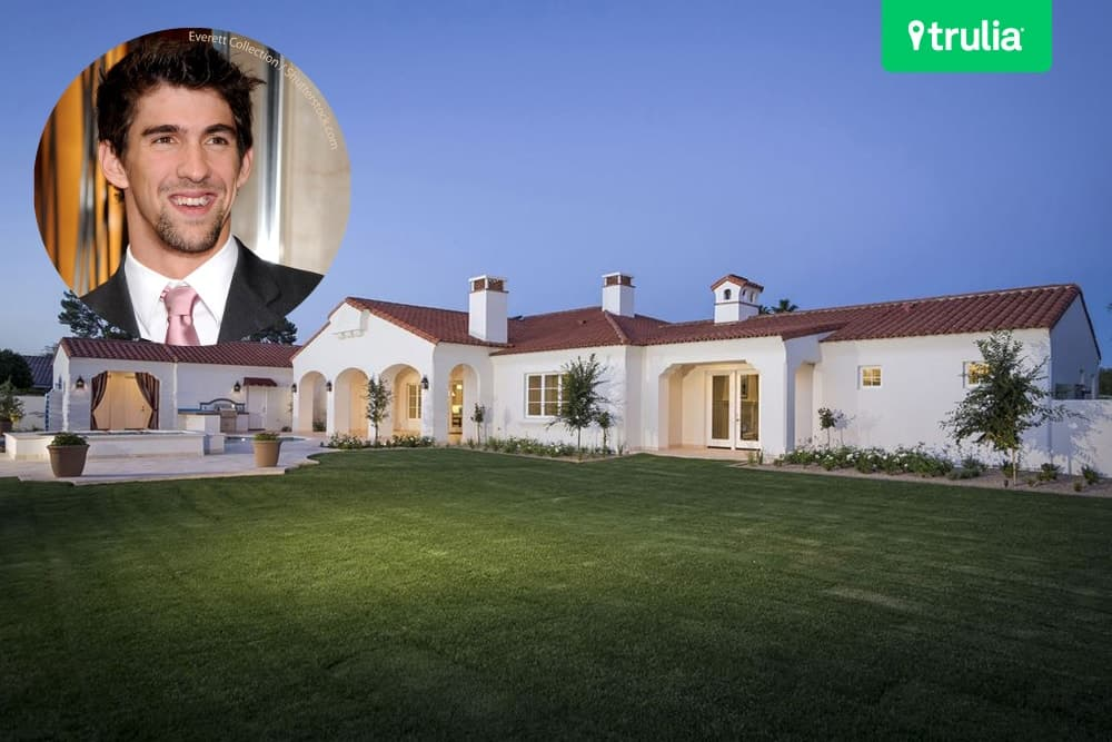 Michael Phelps' Arizona home boasts over 6,000 square feet space.