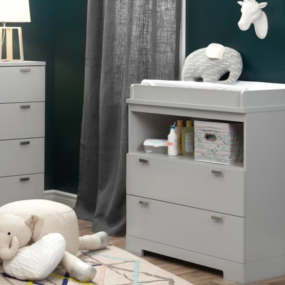 Modern baby changing table.