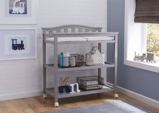 Movable baby changing table.