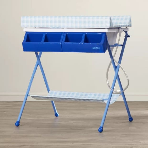 Plastic baby changing table.