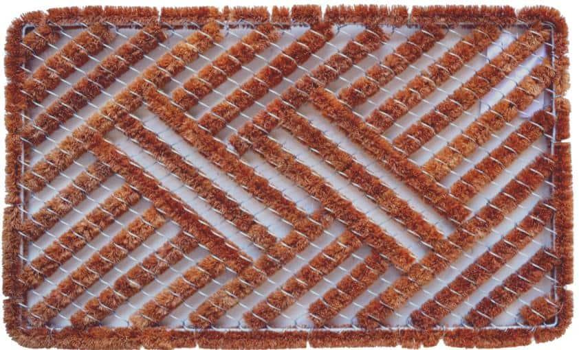 A door mat-syle, rectangular boot scraper.