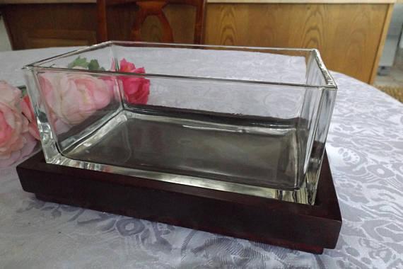 Rectangular fish tank.
