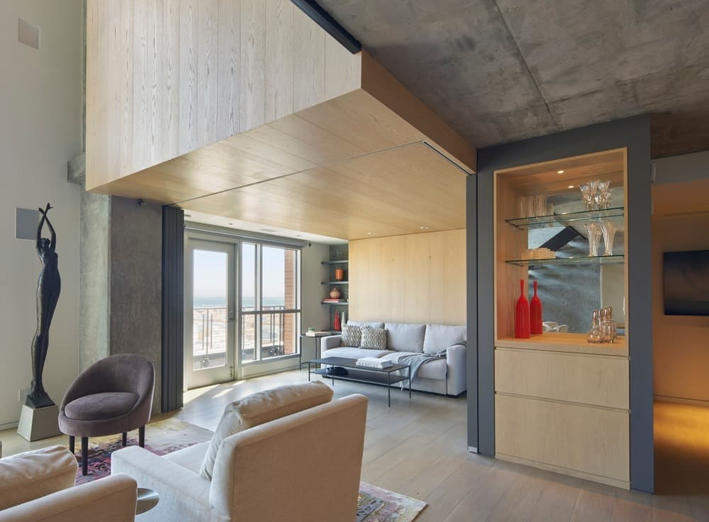 Another Look Of The Homeu0027s Living Room When The Sliding Door Is Unclosed.  Photo Credit: Bruce DamonteStudio VARA