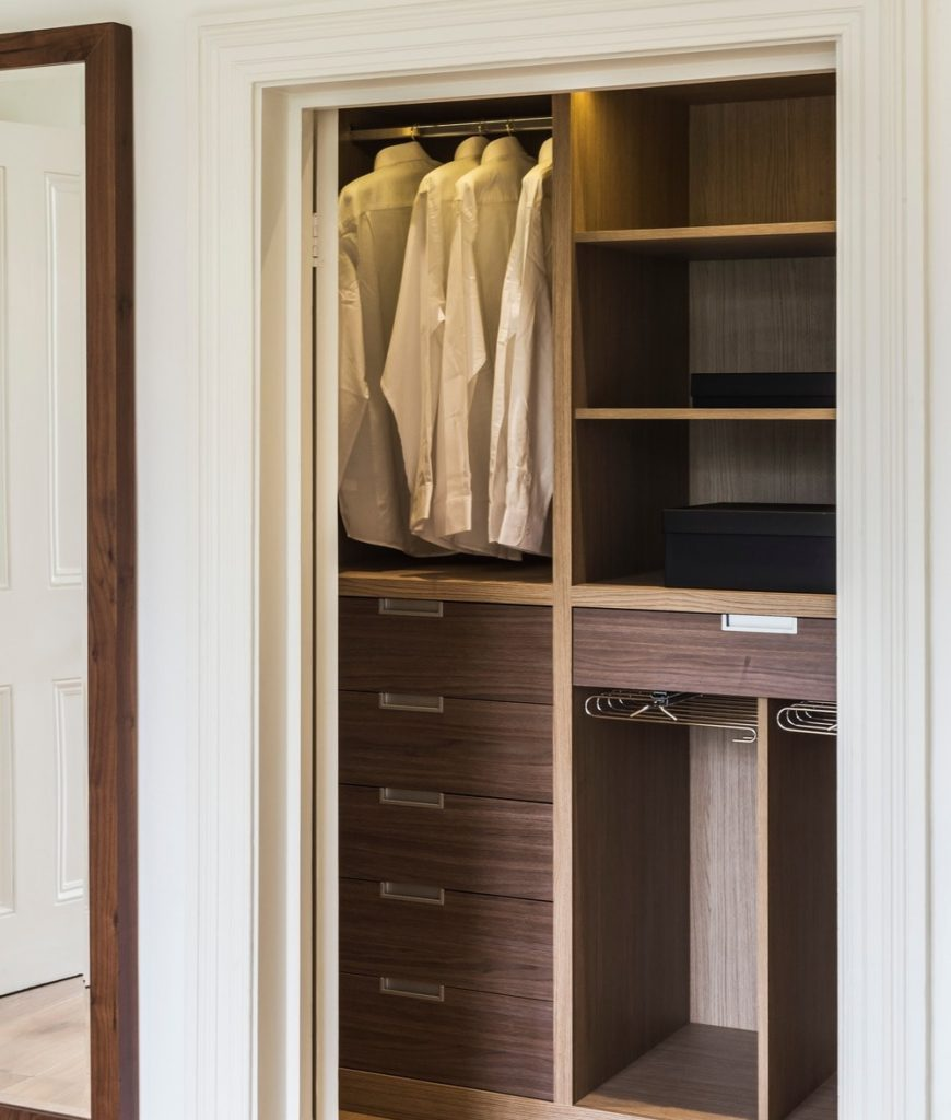 Another look of the closet featuring the well-organized storage. Photo Credit: Rick Mccullagh