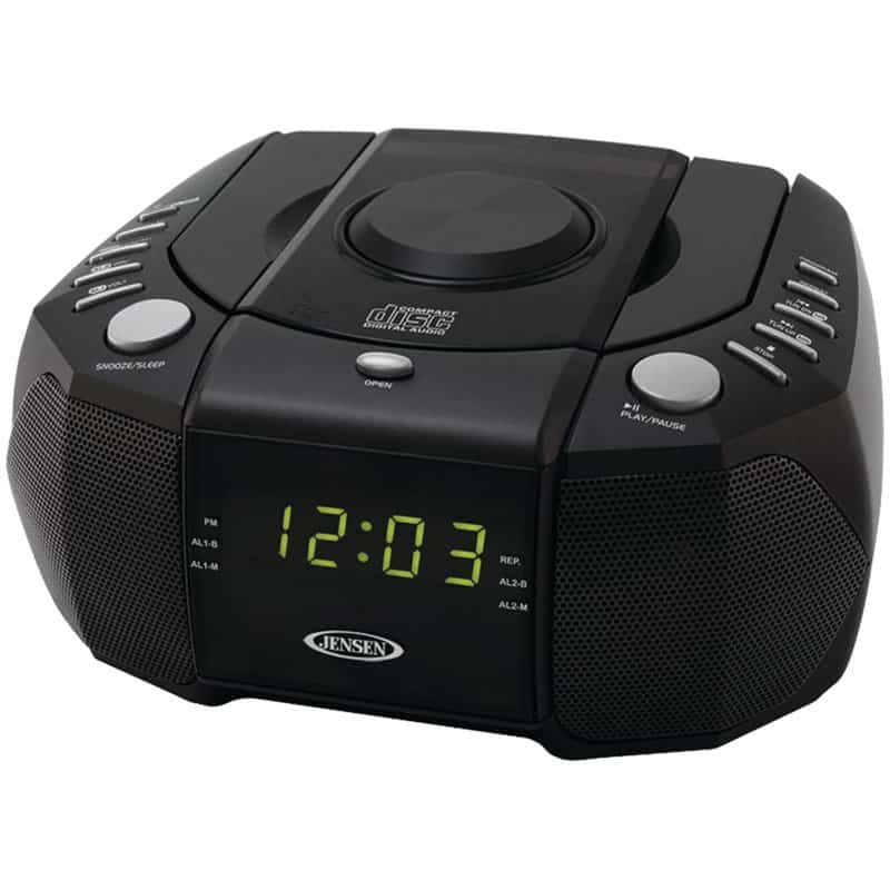 Alarm clock with CD player