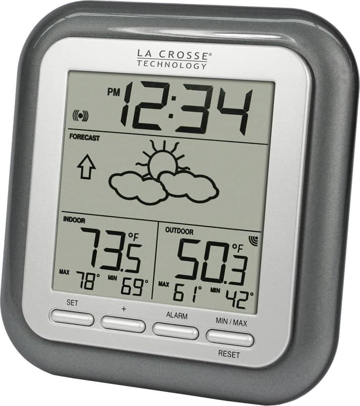 Alarm clock with weather station