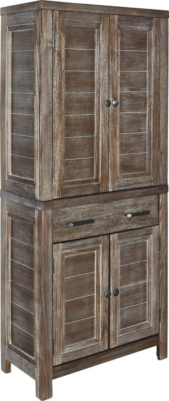 Kitchen pantry with distressed finish
