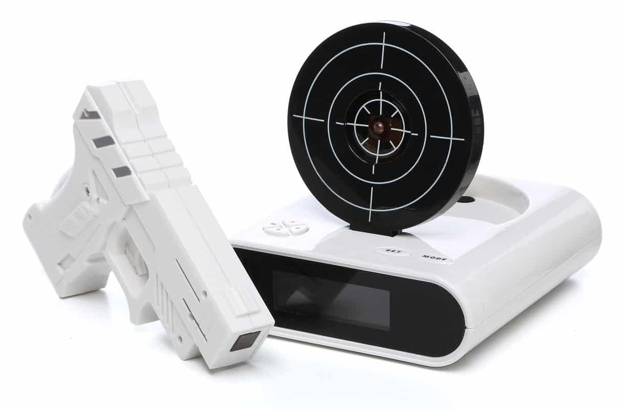 Gun & Target alarm clock
