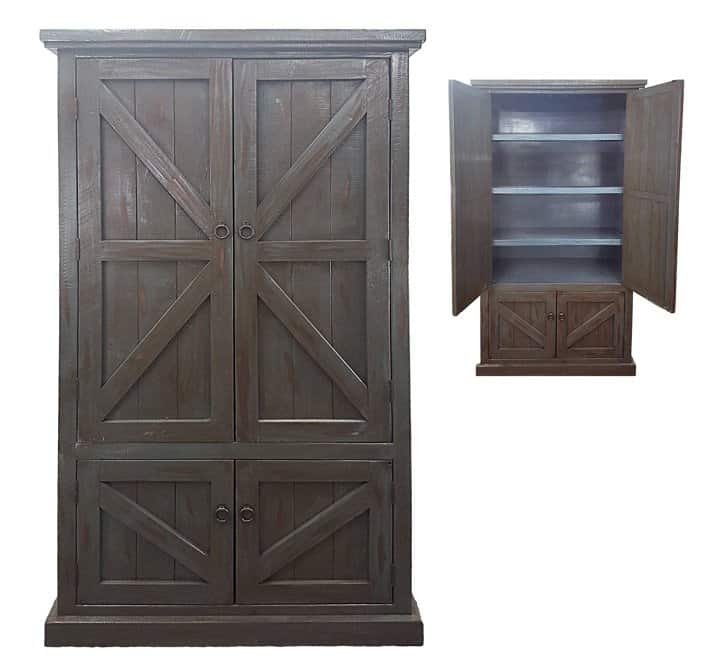 Kitchen pantry with solid cabinet