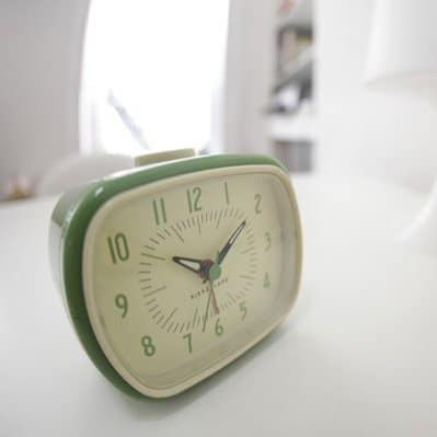 Retro-inspired alarm clock