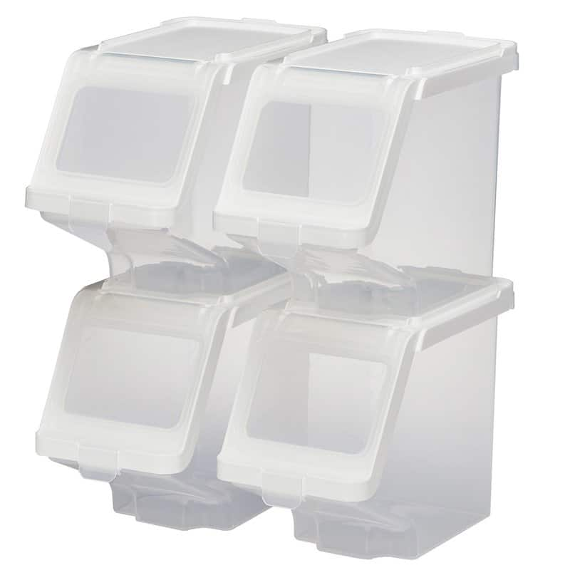 Stackable flip lids