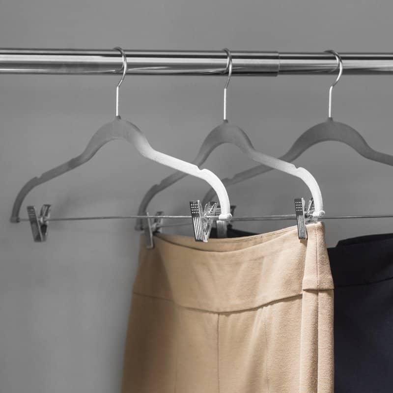 Velvet clothes hangers