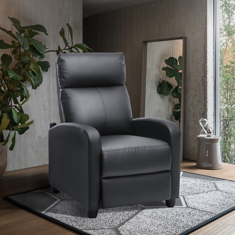 The Deanette faux leather manual no motion recliner from Wayfair.