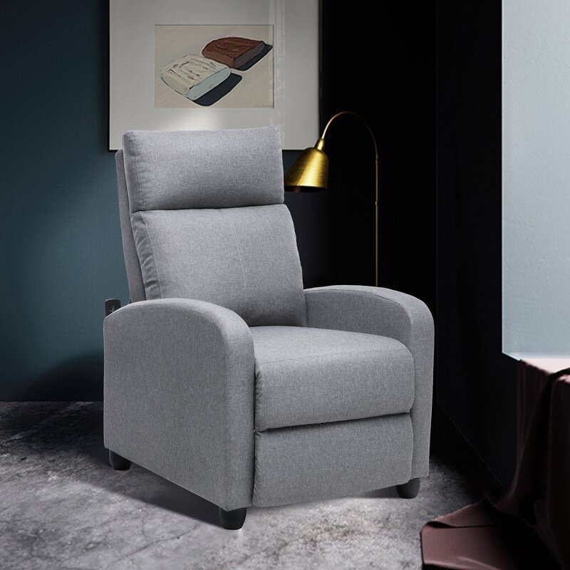 The Deanette manual no motion recliner with massage from Wayfair.