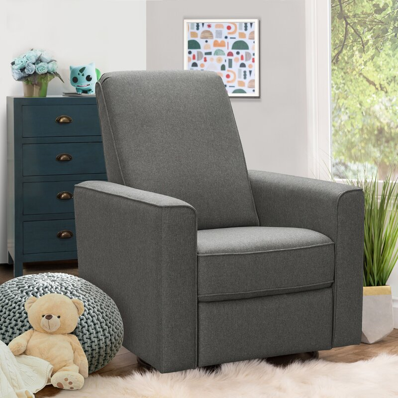 The Isair Swivel Reclining Glider from Wayfair.