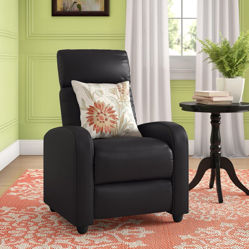 The Korhonen Leather Couch Single Manual Recliner from Wayfair.