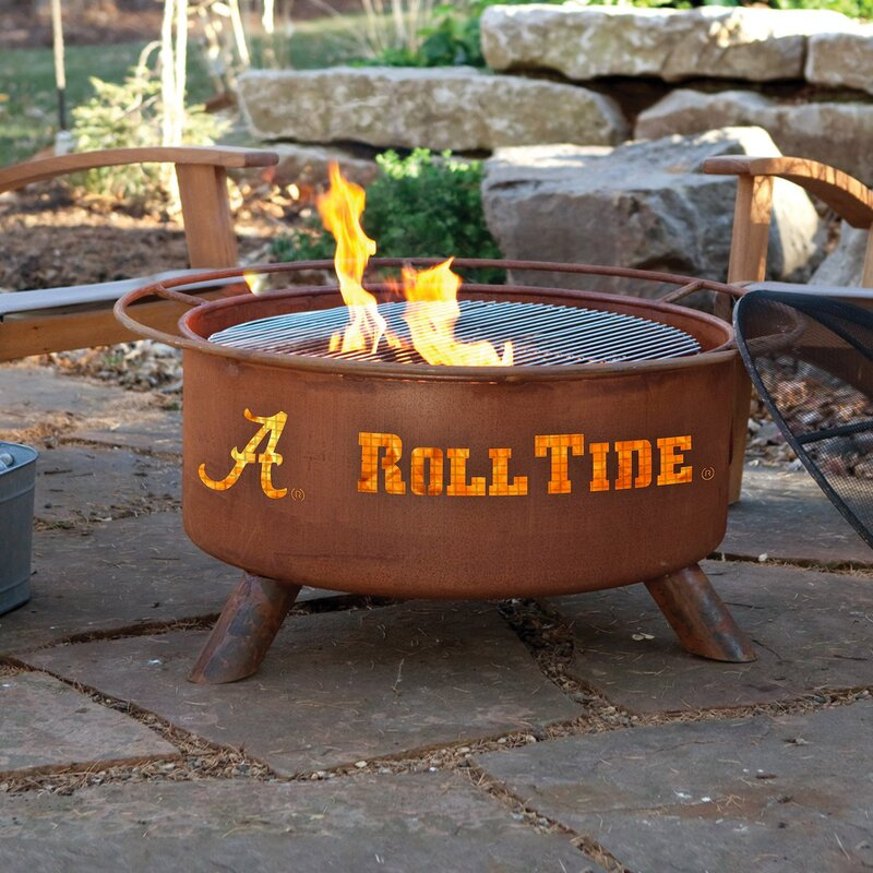 The Patina Products Collegiate Series Fire Pit from Wayfair.