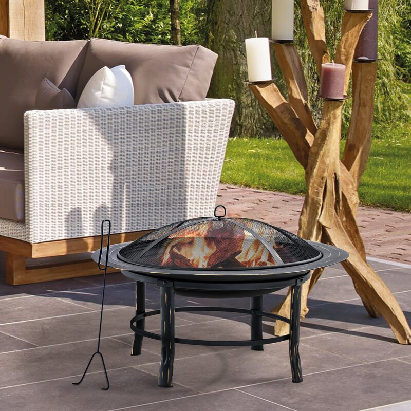 The Winston Porter Youngtown Wood Fire Pit from Wayfair.