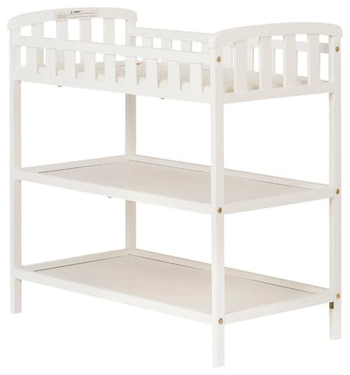 Wood baby changing table.