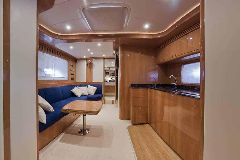 yacht kitchen area