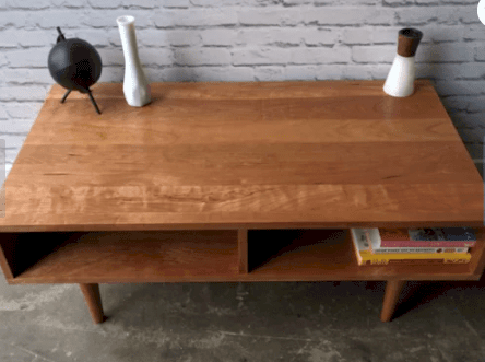 Mid century style coffee table with storage from Etsy